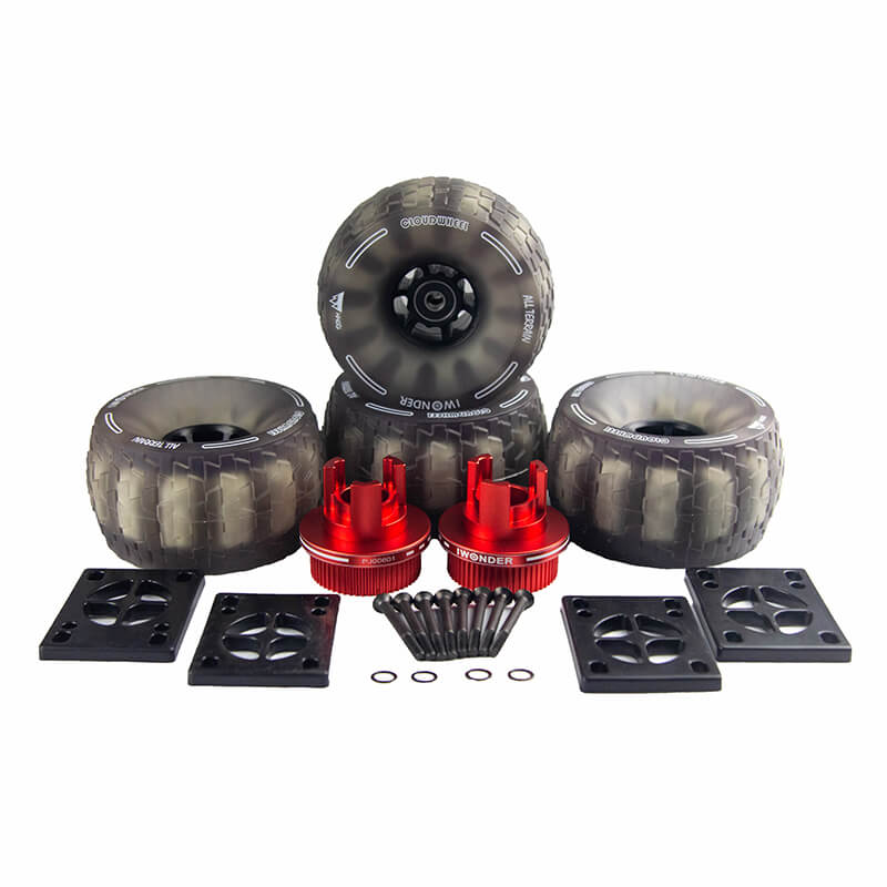 IWONDER Cloud Wheel Skateboard Wheels and Pulley Conversion Kit for Boosted Boards